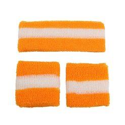 Zweetbandjes Oranje vooraanzicht