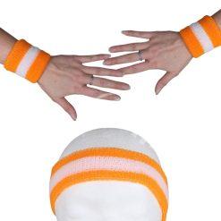 Zweetbandjes Oranje specificaties