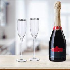 Champagneglazen luxe sfeerbeeld