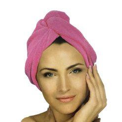 Orange85 Haarhanddoek Microvezel Roze 1,5 x 51 x 21 cm Nylon Polyester Badkamer Accessoires 1_voor