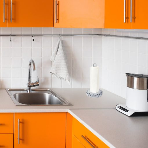 Orange85 Keukenrolhouder Staand Plastic 30 x 17,5 x 17,5 cm Blauw en Wit Keukengerei 4_sfeer