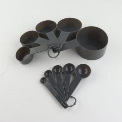 Orange85 Maatlepel Set van 10 met Cups Zwart Rond Kunststof 10 Delige Maatbeker Set Kookgerei 2_detail