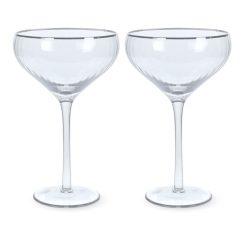 Martini glazen vooraanzicht