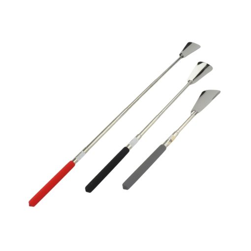 Orange85 Schoenlepel Lang 3 Stuks RVS 63,8 x 4,2 x 1,2 cm Zwart Grijs en Rood Schoentrekker Uitbreidbaar 1_voor