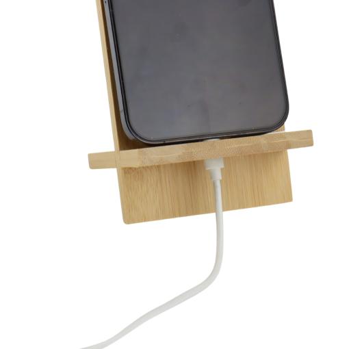 Orange85 Telefoonhouder Bureau Standaard Bamboe 8 x 14 cm Rechthoekig Bureau Accessoires