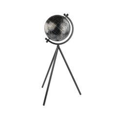 Orange85 Wereldbol Decoratie Zwart 20 x 17 x 55 cm met Standaard Rond Globe Slaapkamer Decoratie 1_voor