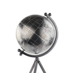 Orange85 Wereldbol Decoratie Zwart 20 x 17 x 55 cm met Standaard Rond Globe Slaapkamer Decoratie 2_detail