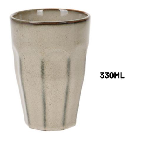 Orange85 Cappuccino Mokken 330 ml Hittebestendig Set van 4 Porselein Multicolor Koffiemokken Set