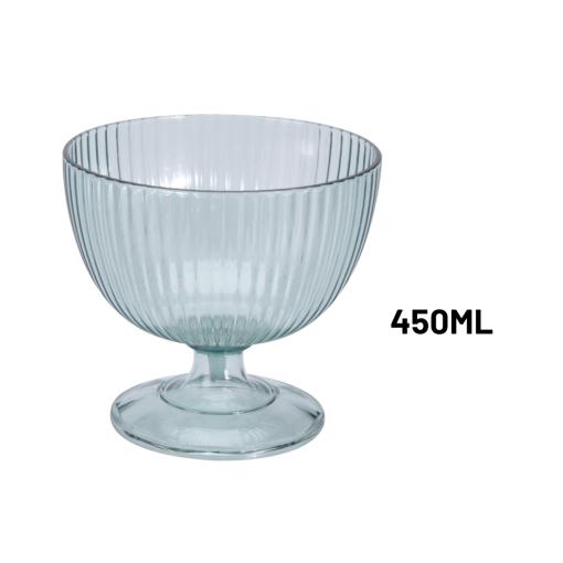 Orange85 Dessert Glaasjes 4 Stuks 450 ml Rond 10,5 x 10,5 x 10,5 cm Transparant Ijscoupe Glazen