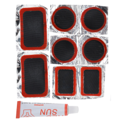 Orange85 Fietsreparatieset 9-Delig Oranje en Zwart 8 Bandenplakkers en 1 Tube Plak
