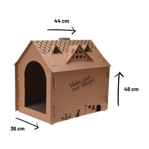 Orange85 Kattenhuis Karton 48 x 44 x 36 cm Binnen Speelhuis Katten