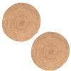 Orange85 Placemats Rond Set van 2 Riet 40 x 40 cm Gevlochten Keuken Accessoires