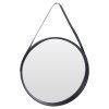 Spiegel rond zwart vooraanzicht